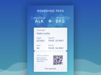Airplane ticket UI