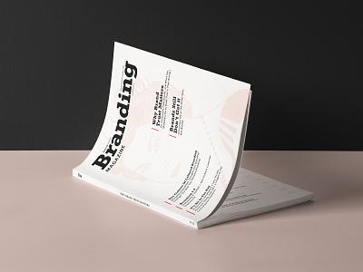 Branding Magazine Issue magazine branding typography graphic design editorial