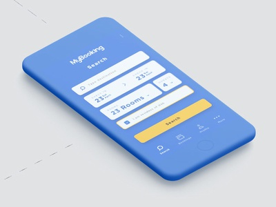 Booking App booking icons graphic blue interface user design ui
