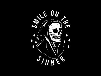 Smile On The Sinner shirt design graphic designer graphic design vector tee illustrator illustration drawing design commission artwork art