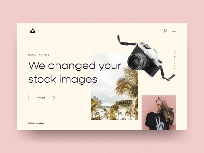 #10 Unsplash Retro 📷☀️   | 99+ Days in the Lab sketch typography retro design parallax footage stock pattern pink desktop hero filter images unsplash camera retro