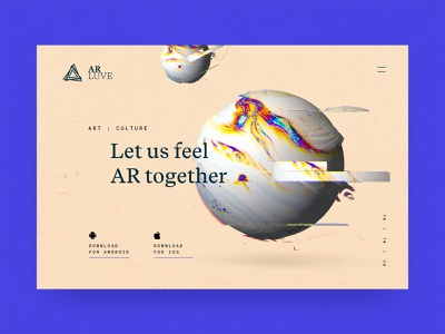 #13 AR Luve  🌍 ⭕️  | 99+ Days in the Lab art website hero sphere planet blue app object 3d immersive experience ar