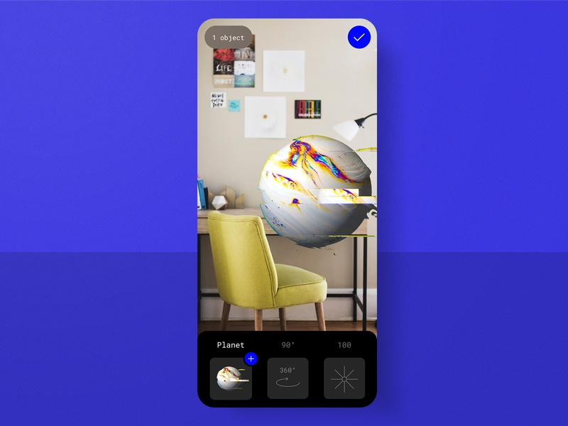#15 AR Luve Mobile app ⚡⭕️ | 99+ Days in the Lab challenge rebound marble gradient glitch sphere augmented reality mobile app mobile