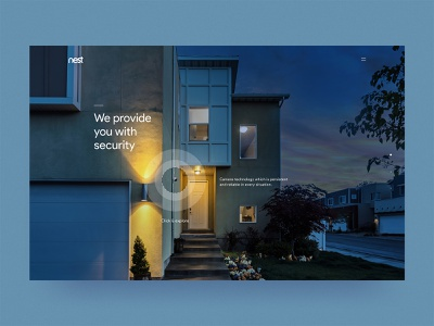 #73 Nest by night  🌙🔒 | 99+ Days in the Lab brand blue photomanipulation observer light security camera google figma photoshop night sleep secure security nest