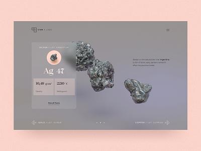 #87 Metal Labs | 3D 🥇🥼 hero slider transparency data desktop surface silver metal challenge figma 3d blender