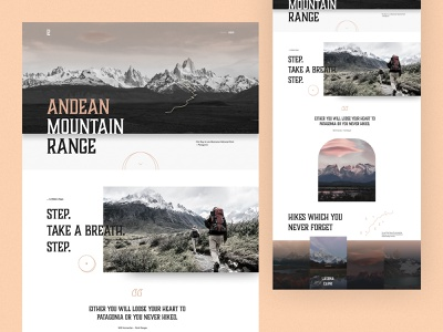 #93 Patagonia Hiking 🥾🌎 branding photography mask daily challenge typography editorial desktop mountains argentina patagonia travelling