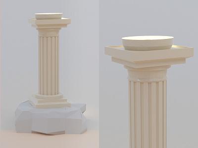 #95 Greek 3D column 🏛️ architecture greek comic light plinth challenge blender 3d column