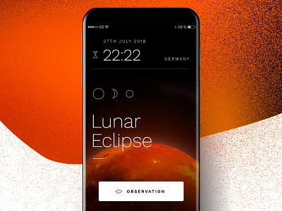Lunar Eclipse 27th of July 2018  | Moon 🌗 space stellar total shadow sun universe red lunar eclipse moon