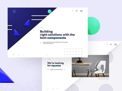 Design Agency | Domino 👋 square circle walsheim turquoise blue geometric site web agency domino