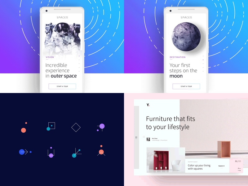 #Top4Shots | Dribbble 2018 spaced furniture space cologne review dribbble top 4 2018 desktop animation transition mobile