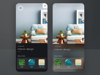 Home & Living 🏠 / Configurator ai color theme configurator styling blur dark interior home living