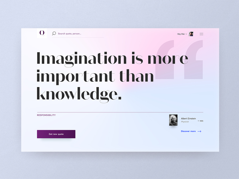 #9 Quota - Get your daily quote ✌️ daily quotation mark soft typography purple website gradient quotation quote logo branding desktop