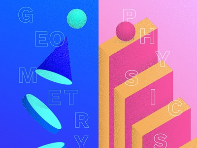 #1 Educational app / Illustrations 🎓 physics geometry illustrator parallax illustration app education mobile learn educational