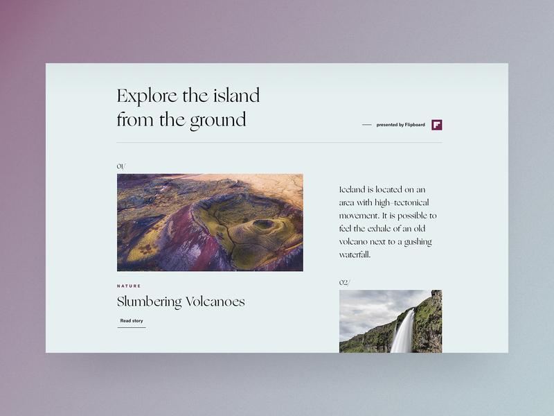 Icelandic Explorer 🇮🇸 | Detailpage magazine explore iceland editorial cologne typography desktop landingpage doorpage