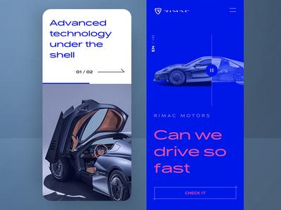 Rimac Automotive 🏎️ | Mobile mobile first rimac croatia responsive onepage scroll cologne blue mobile speed car automotive