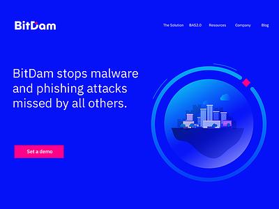 BitDam web design ui ux