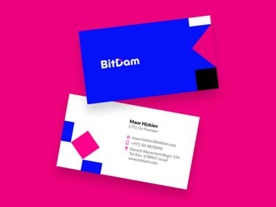 BitDam Bcards graphic design identity logo