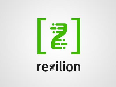 Rezilion logo branding graphic design logo