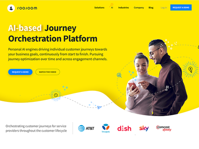Roojoom website web design