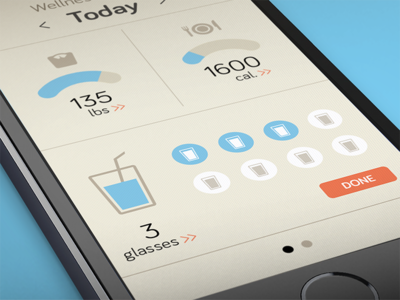 Wellness Layers ux app mobile