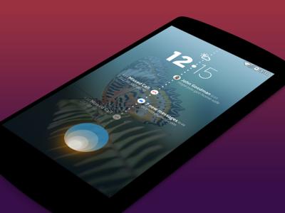 Lockscreen Concept ux app mobile
