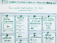 Wireframe sketch for Google Ventures homepage