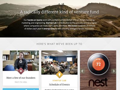 Google Ventures Homepage homepage masonry googleventures designstudio