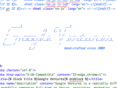 This is what happens when you let designers write code code ascii googleventures designstudio