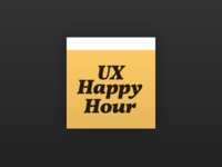 Simple new logo for UX Happy Hour