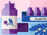 Essential Oils Illustration