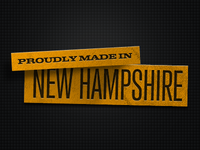 Proudly Made in New Hampshire