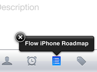 Flow iPhone App - New Task