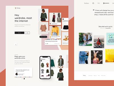 Finery Marketing Site retail design branding brand website