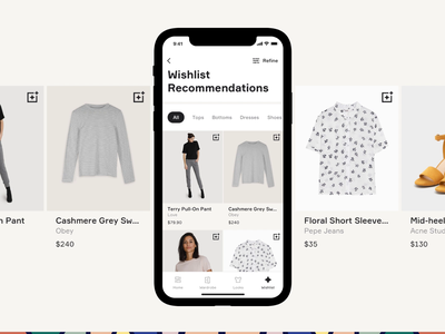Finery Wishlist design user interface ecommerce retail iphone app app animation iphone