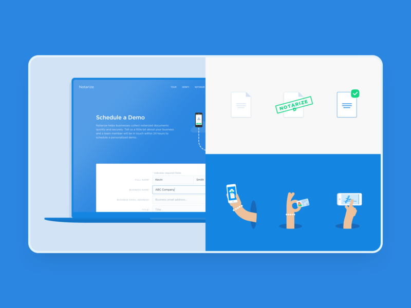 Fresh(er) Notarize Case Study 🔥 ui enterprise product design product case study app design illustration