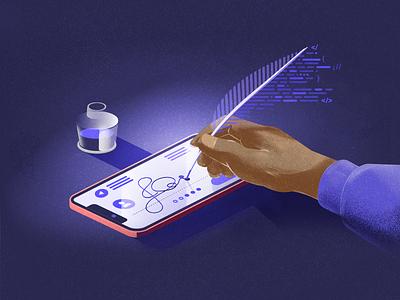 Notarize: Solving the $32 Billion Paperwork Problem design development product designs paperwork illustrator illustration illo blog
