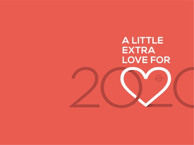 2020 heart love vector minimal neutra flat 2020 type design