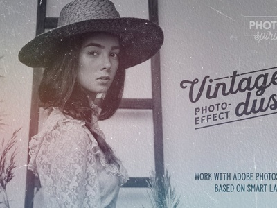 Vintage Dust Photo Effect white black overlay retro screen noise image film cover template effects vintage photography photo overlays effect photoshop textures scratches dust