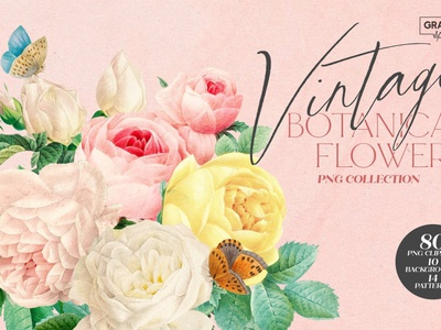 Aesthetic Vintage Flower PNG Clipart red bouquet watercolor vintage rose png pink flower floral logo graphic design clipart aesthetic illustration photo overlays design textures effect photoshop