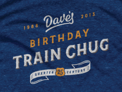 Birthday Shirt lettering script typography beer high life