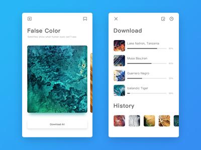 False Color app ui