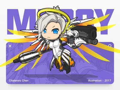 Mercy overwatch mercy illustration