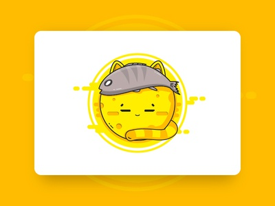 Moon Cat cat moon illustration
