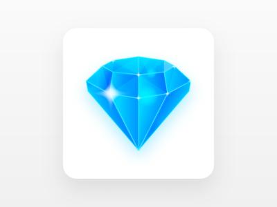 Diamond icon game diamond illustration
