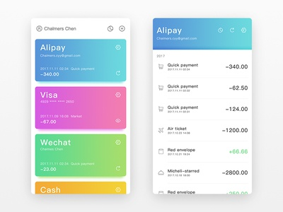 Wallet wallet app ui