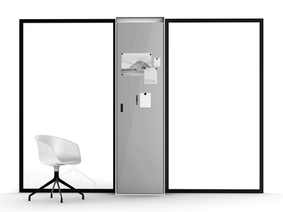 Air Treatment Module 02 black dribbble space coworking workspace interaction interface illustration office design office space office white board board glass industrial environment design environment ambient