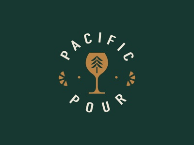 Pacific Pour westcoast tree bartender bartending cocktail vancouver branding logo illustration design british columbia