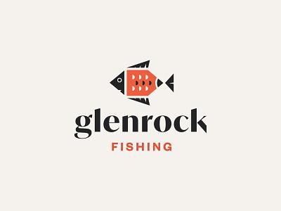 Glenrock Fishing fisherman fish logo ocean westcoast branding logo design illustration vancouver glenrock fishing fish logo