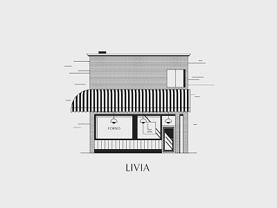 Livia storeillustration store italy livia vancouver bakerylogo bakery