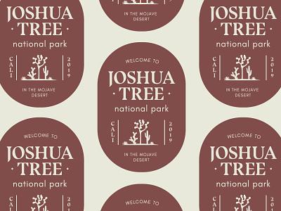 Joshua Tree National Park badge logo badge logo illustration mojave desert nationalpark califonia joshuatree